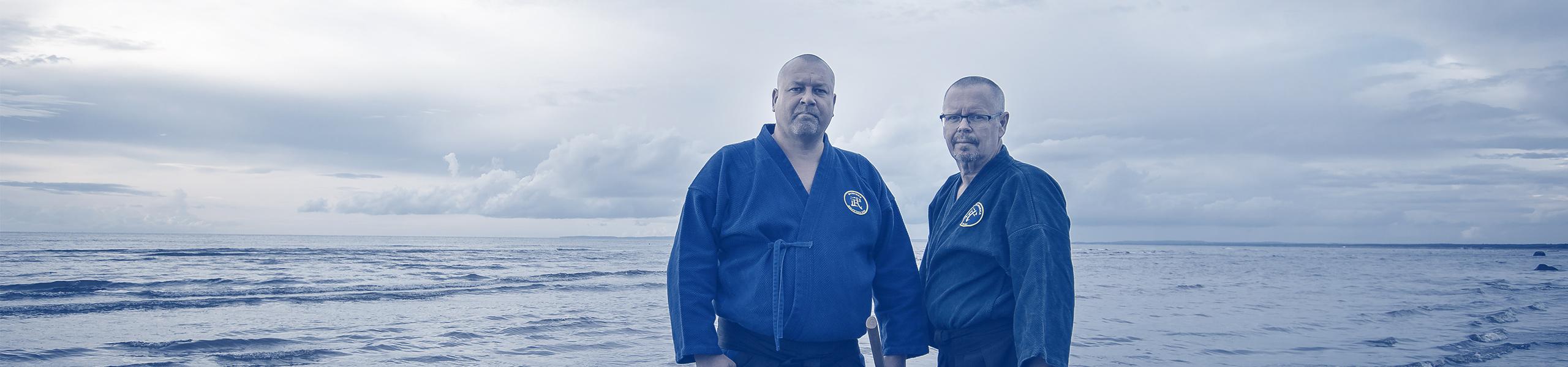 Johan Pettersson och Stig-Lennart Åkesson - grundare av Svenska Bujutsu Kai
